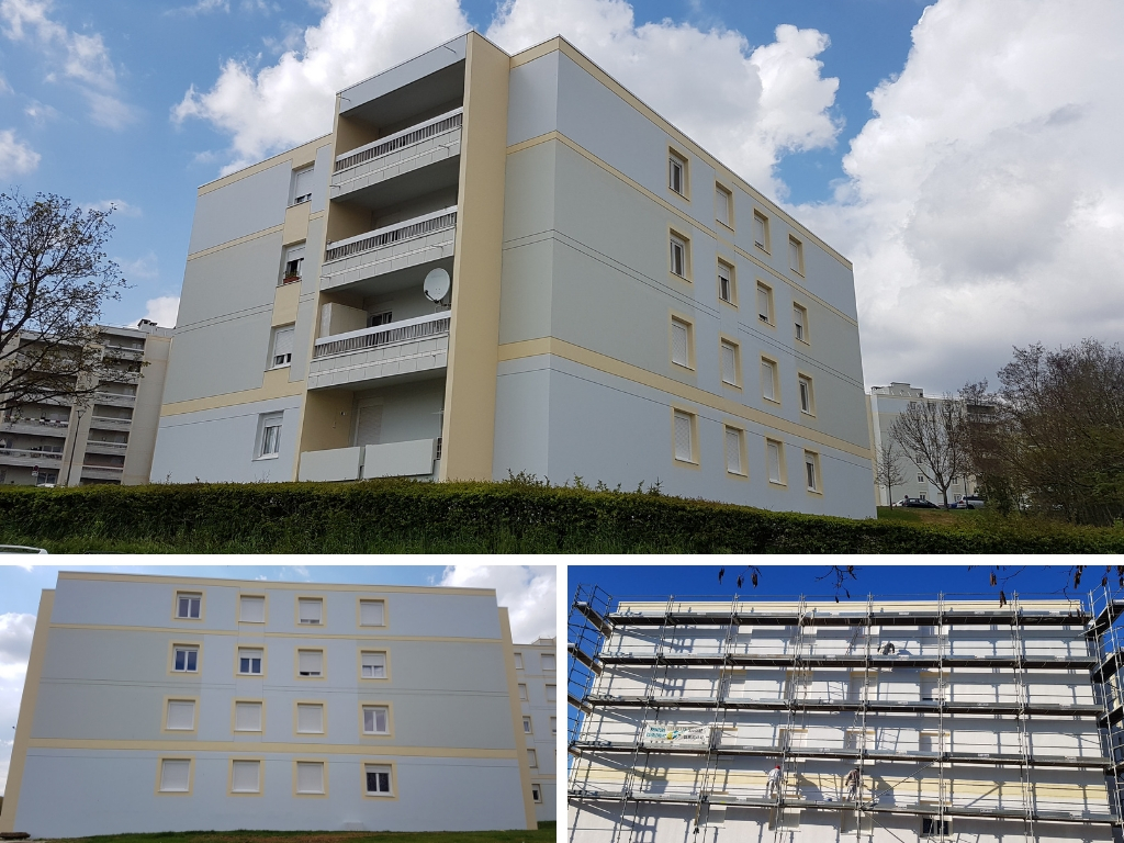 Travaux d'imperméabilisation de façades à Auxerre - Système I3